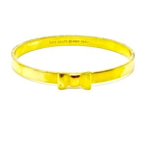 KATE SPADE~ bow~GOLD BANGLE BRACELET